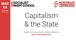 Socialist Night School: Capitalism and the State @ Zoom